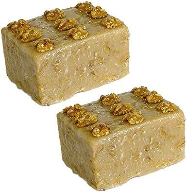Turron de Nueces Artesano - Pieza de 300 g aprox. - Elaborado en Medina Sidonia - Sobrina de las Trejas (Pack de 2 piezas): Amazon.es: Alimentación y bebidas