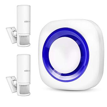 Besmall - Timbre inalámbrico portátil con 2 detectores de Movimiento PIR para Seguridad en el hogar/Bienvenida/Entrada: Amazon.es: Bricolaje y herramientas