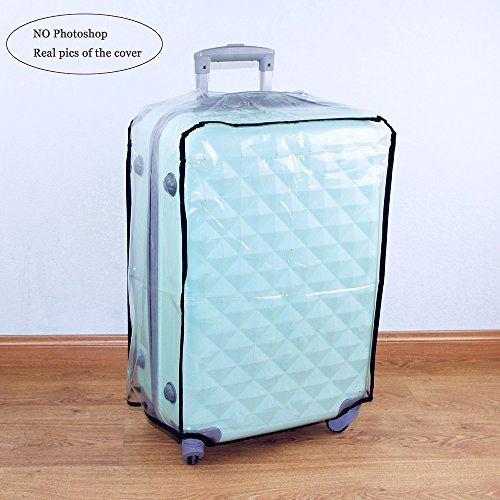 hibate clear plastic luggage cover suitcase protector. Black Bedroom Furniture Sets. Home Design Ideas