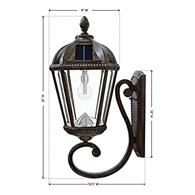Gama Sonic GS-98B Royal Bulb Collection, Outdoor Solar Lights, with or Without Posts, Warm White LED