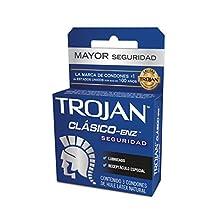 Trojan Clásico, Caja de 3 Condones, azul