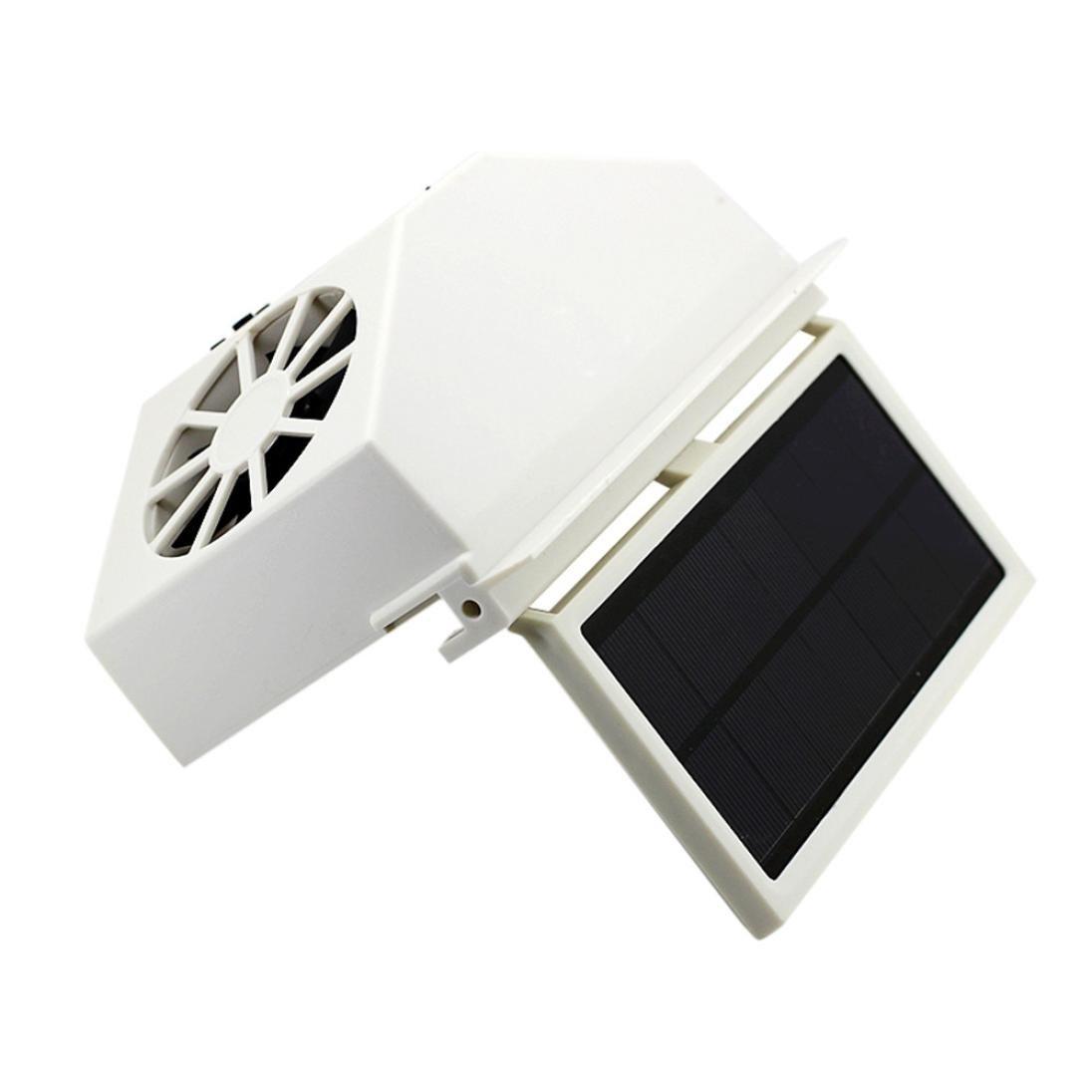 Transer Solar Powered Car Window Air Vent Ventilator Mini Air ...