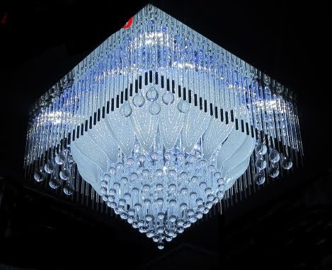 Buy LEd Chandelier (Jhoomar) with Bluetooth Music System USB ...