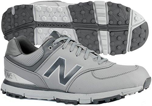 New Balance Men's 574 SL Golf Shoe, Grey/Silver 10 W US