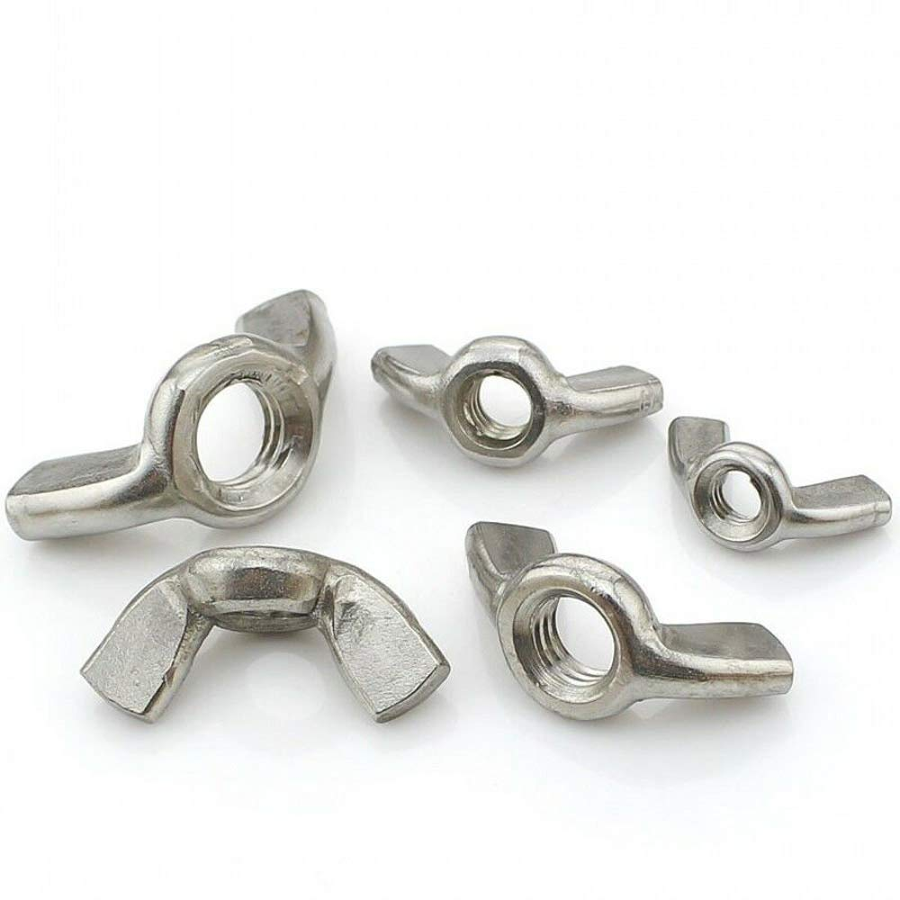 A2 Stainless Steel Wing Nuts Butterfly Nut DIN 315 M3 M4 M5 M6 M8 M10 M12 304 by LZH-LP