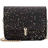 Women's Evening Starry Sky Frosted Shoulder Handbag Fashion Clutch Bag with Chain Strap