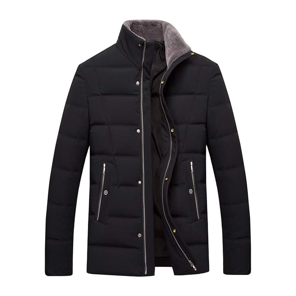 Daunenjacke, Männer Business Casual kurzen Absatz Revers Jacke, Winter im Freien Kaltes warmes Top, geeignet für Kaltes Wetter