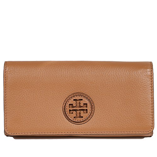 Tory Burch Wallet Leather Marion Envelope - Tory Brown Burch Bag