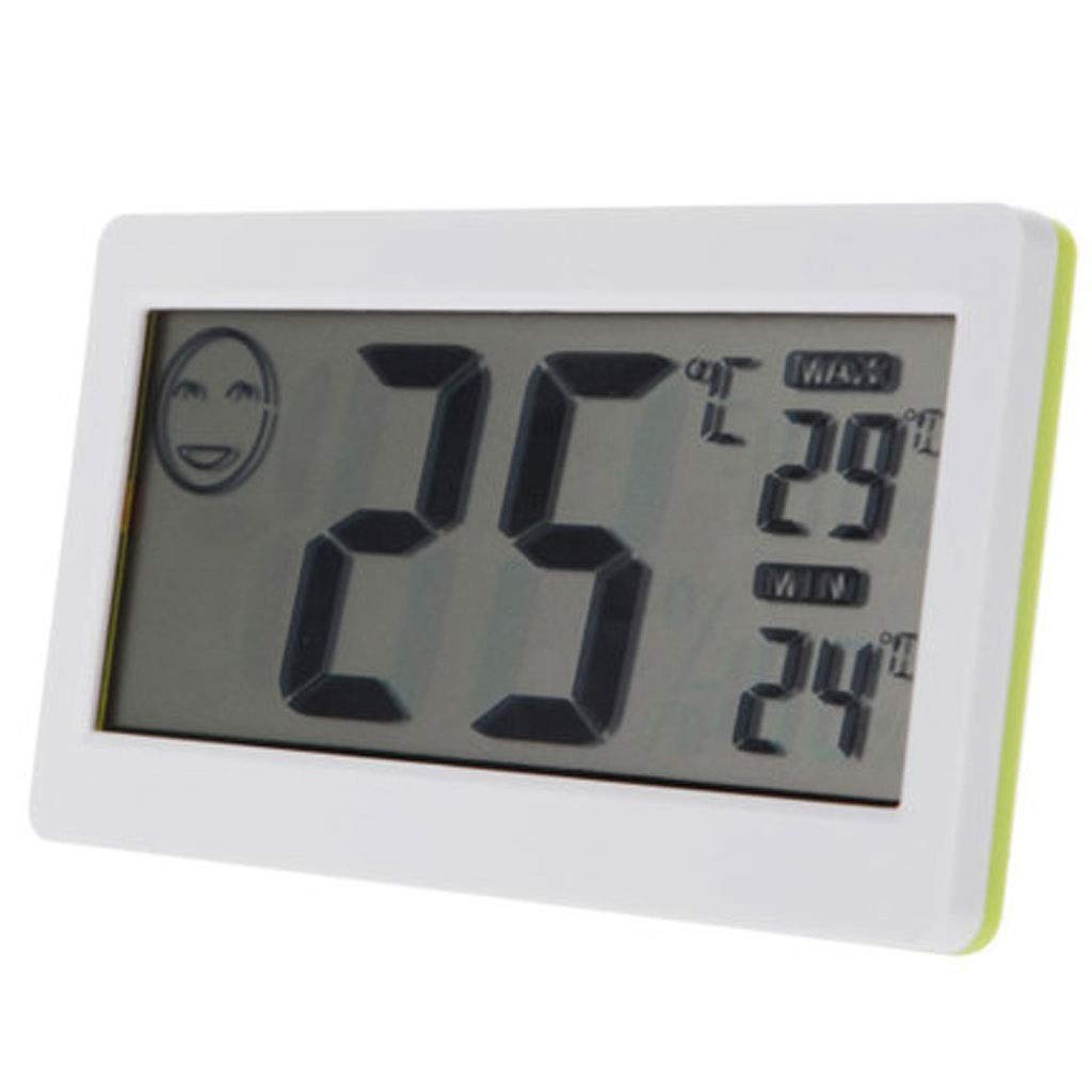 MSNDD LCD Mini Digital Thermometer Hygrometer Temperature and Humidity Meter White Household Temperature Display 3.3