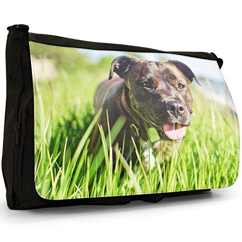 Rottweiler Laptop Canvas Bag Shoulder Long School Large Grass In Dog Black Messenger aRxAr1aq