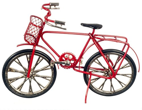 Dollhouse Miniature 1:12 Scale RED Bicycle #G8141 (Dollhouse Bicycle)