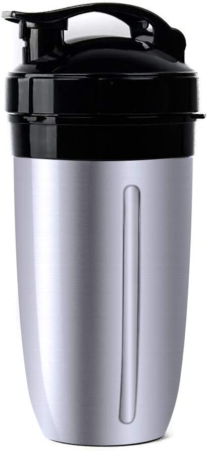 Replacement Cup for NutriBullet, Replacement 28 Oz Insulated Stainless Steel Colossal Cup Double Wall Fits NutriBullet 600W 900W Lean 1200 Watts, Hold Your Drink Cold or Hot for up to 8 Hours