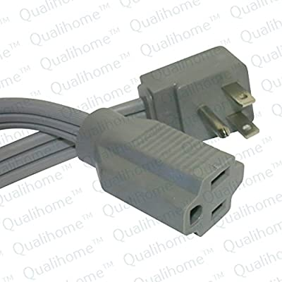 Heavy Duty Air Conditioner and Major Appliance Extension Cord Wire, Grey,