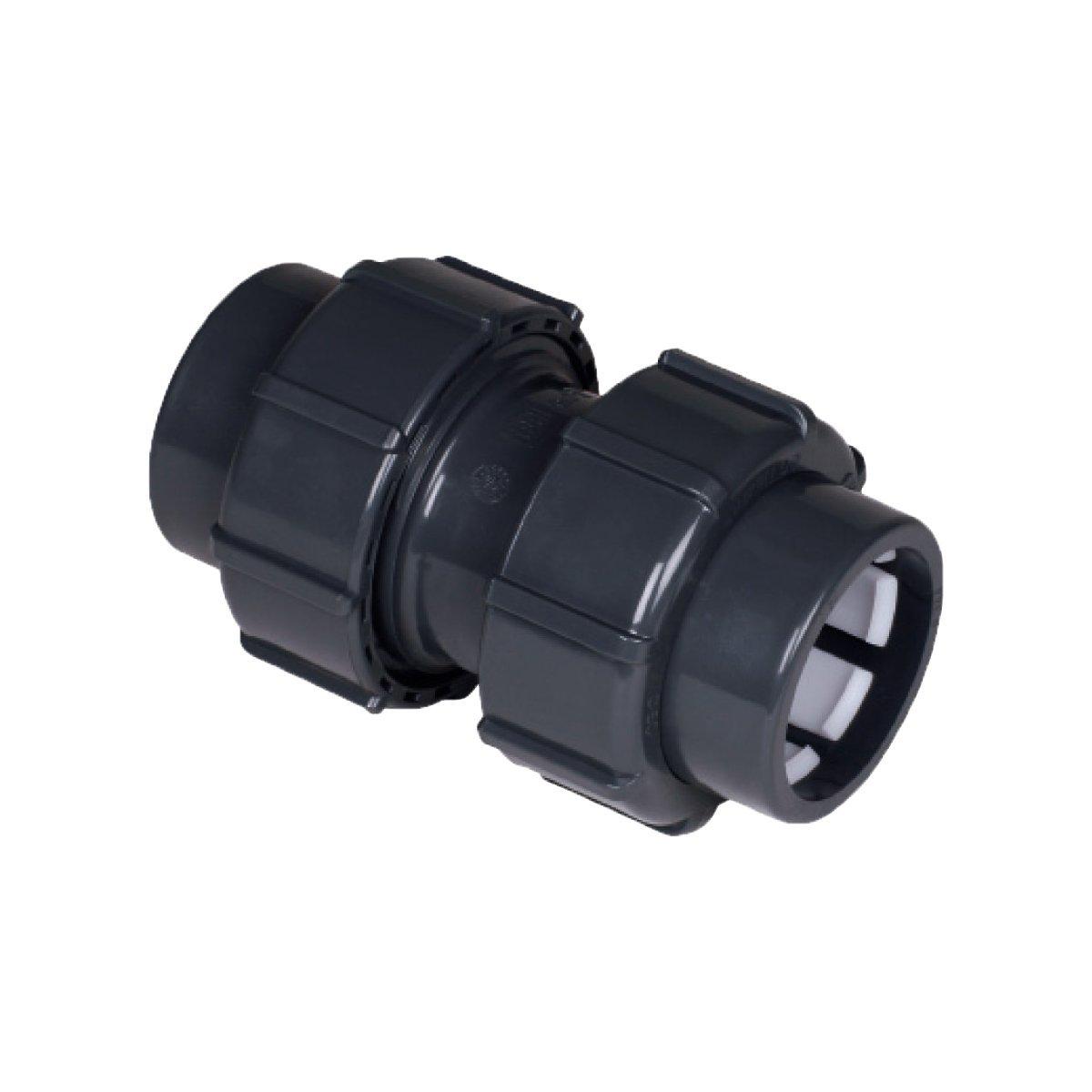 jardiboutique Manguito Tubo-Tubo empalmes compresi/ón di/ámetro 50/mm PN 16 /Empalme PVC Montaje r/ápido/