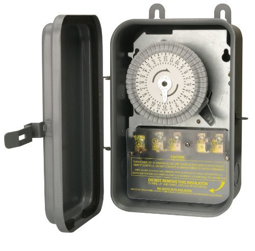 Woods 59104R 208-277-Volt 40-Amp Outdoor 24-Hour DPST Mechanical Time Switch with Metal Box by Woods (Mechanical Time Switch Dpst)