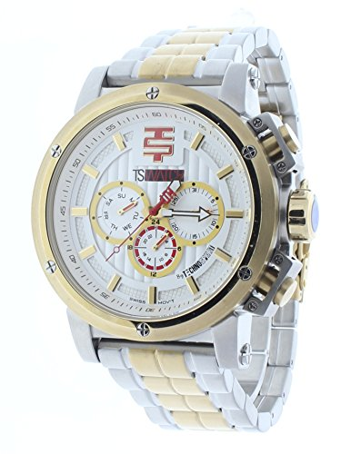Technosport 50mm Multifunction Two-Tone Stainless Steel Mens Watch TS-900-15
