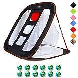 GALILEO Golf Chipping Nets Golf Net Training Aids 24'(L) x28(W) Black with Foam Training Balls(12pack)