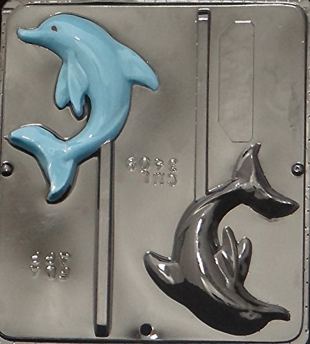 Dolphin Lollipop Chocolate Candy Mold - Plastic Dolphin Mold