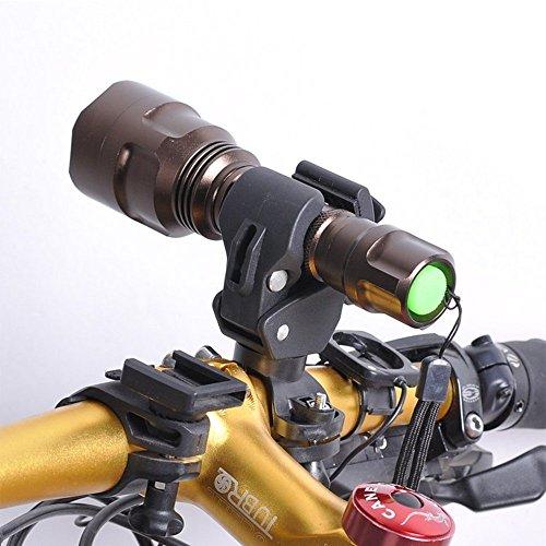 - Bicycle Flashlight Holder,Universal 360-degree Rotating Cycling Mount Adjustable Bike Holder for LED Flashlight Torch Bicycle Handlebar Mount LED Flashlight Torch Mount Clamp Clip Holder Grip Bracket