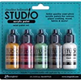Ranger HSK31819 Claudine Hellmuth Studio Mini Acrylic Paint Metropolitan Kit, 0.5-Ounce, Set of 5