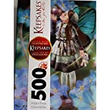 "Puzzle with Collectible Box Keepsakes "" Forget Me or Not "" 500 Piece"