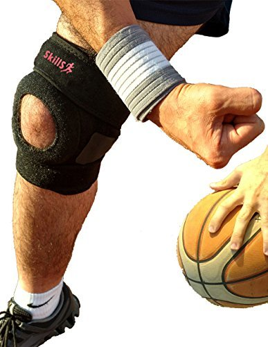 Knee Brace, Knee Support and Compression, Open Patella With Straps, Made of Neoprene and Anti-Slip Silicon, For Knee Protection During Sports Activities, For Arthritis, Knee Brace For Men and Women