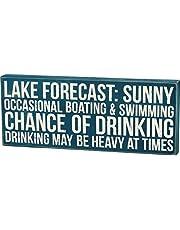 Primitives By Kathy Box Sign, Lake Forecast