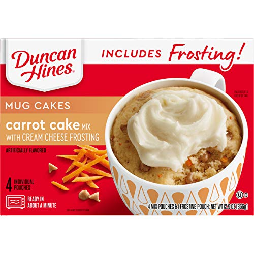Duncan Hines Mug Cakes, Carrot Cake with Frosting
