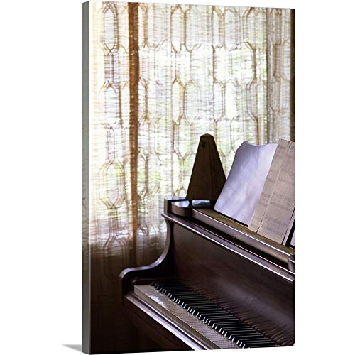 GREATBIGCANVAS Gallery-Wrapped Canvas Entitled Piano with Metronome and Sheet Music by 24