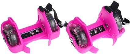 Children Heel Roller Wheel Light Adjustable Skates Kids Falsh Blade Shoe Strap