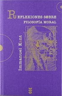 Reflexiones sobre filosofía moral par Kant