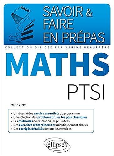 Livres audio gratuits à télécharger sur ipod Savoir & Faire en Prépas Maths PTSI 2340010594 en français PDF CHM