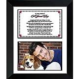 Dog Memorial Poem – Pet Sympathy Gift – Heartfelt Poem to Remember a Beloved Dog - 8x10 Inch Frame - Add Photo