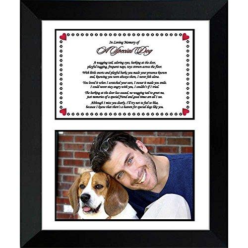 Dog Memorial Sympathy Gift – Heartfelt Poem to Remember a Beloved Pet, Add Photo