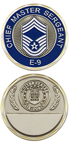 Chief Master Of The Air Force - U.S. Air Force Chief Master Sergeant E-9 Challenge Coin