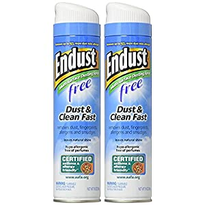 Endust Fragrance Free Hypo Allergenic Dusting and Cleaning Spray, 2 Count