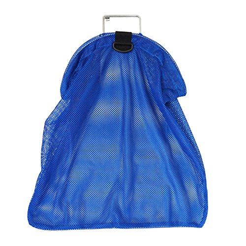 Spearfishing 5mm SS Wire Handle Blue Fish Bag Net Mesh, Large 26