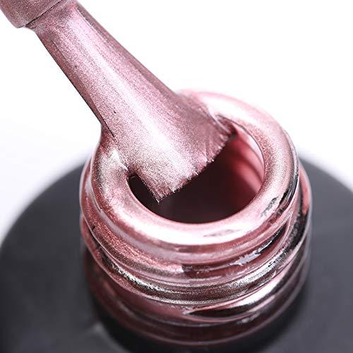 NICOLE DIARY Metallic Spiegel Gel Nagellack Metall hell tränken weg UV LED Gel – Kit 6ml, Packung mit 4 Flaschen