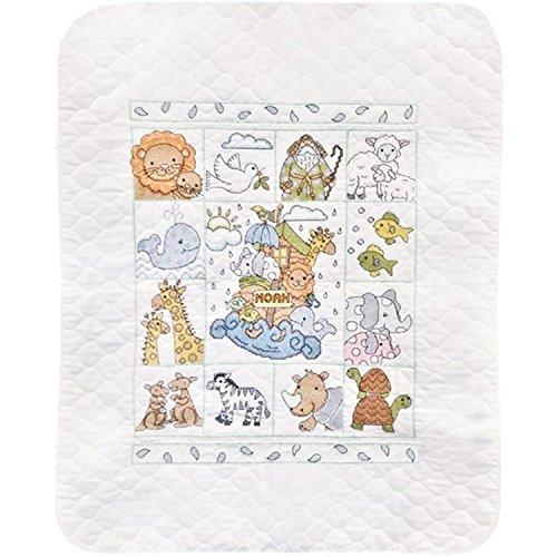 Tobin Noah's Ark Baby Quilt - Stamped Cross Stitch Kit T2177