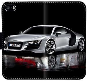 Audi H6Y7J Funda iPhone 6 6S Plus 5.5 de piel Funda caja de la carpeta del caso del tirón del teléfono 6SSFG4 funda dura personalizada