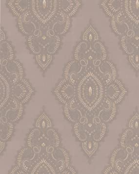 Jewel Taupe Gold Collection JmD Fabulous 31 164 002 Fleece Wallpaper By Graham