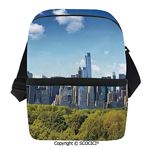 - SCOCICI Cooler Bag Manhattan Skyline with Central Park in New York City Midtown High Rise Buildings Insulated Lunch Bag for Men Women for Kayak,Beach,Travel,Work,Picnic,Grocery