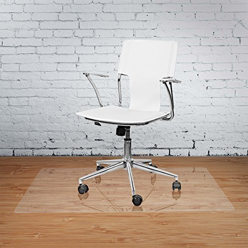 Vinyl Office Chair Mat - 36'' X 48'' - for Hard Floor Tile Scratch, Mark, and Scuff Resistant Protection on Tile, Hardwood, Vinyl, Laminate (36'' x 48'') by Terazzo