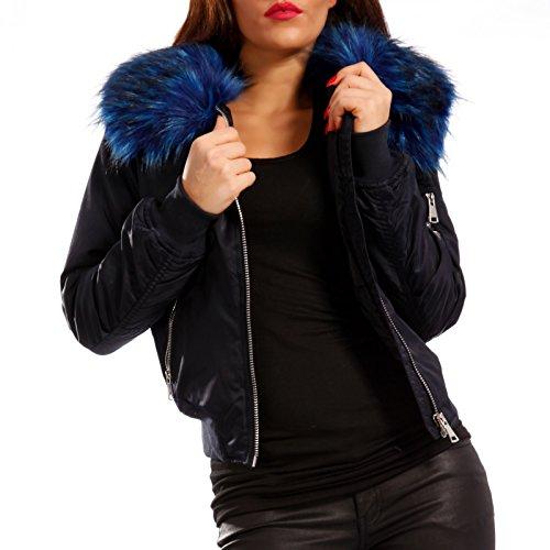 Lunghe Fell Maniche fashion Giacca Basic Young blau Donna Blau Camicia HxXfqcz