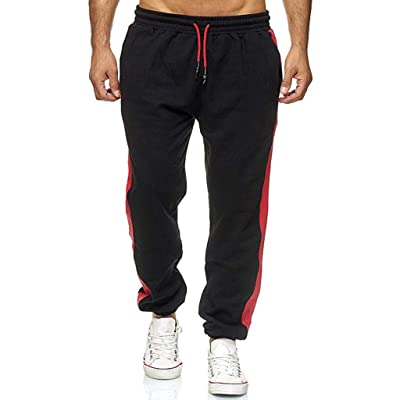 Ohbiger Men's Casual Jogger Sweatpants Basic Marled Jogger Pant Elastic Waist at Men's Clothing store