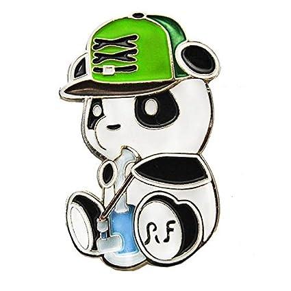Bassnectar Smoking Panda Hard Enamel Hip Hop Rapper Hat Pin