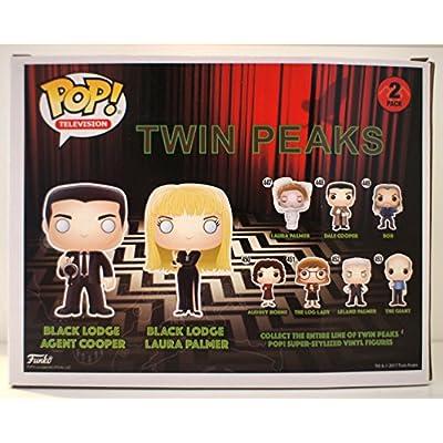 Twin Peaks Funko POP! TV Black Lodge Cooper & Laura Exclusive Vinyl Figure: Toys & Games