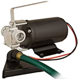 Star HPP12V Portable Battery Powered Water Transfer Pump with Suction Hose, Strainer and Leads, 12 Volt