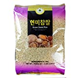 ROM AMERICA (4 Pound) Brown Sweet Rice Sticky Rice Glutinous Rice 현미찹쌀
