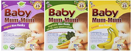 Price comparison product image Baby Mum-Mum Variety Pack of 3 Original Banana and Vegetable 1.76 Oz each